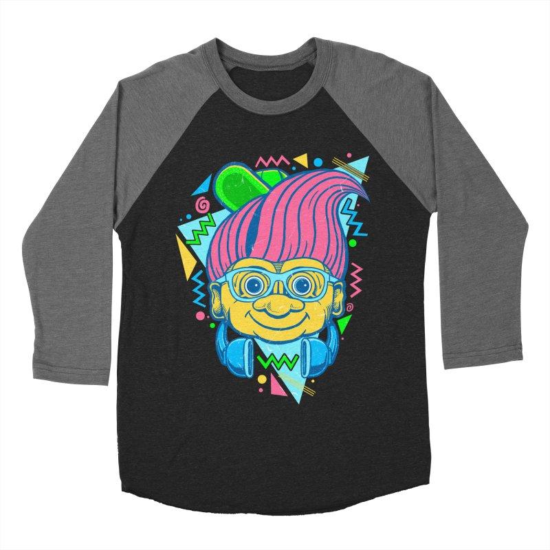 Hip Troll Women's Baseball Triblend Longsleeve T-Shirt by Fathi