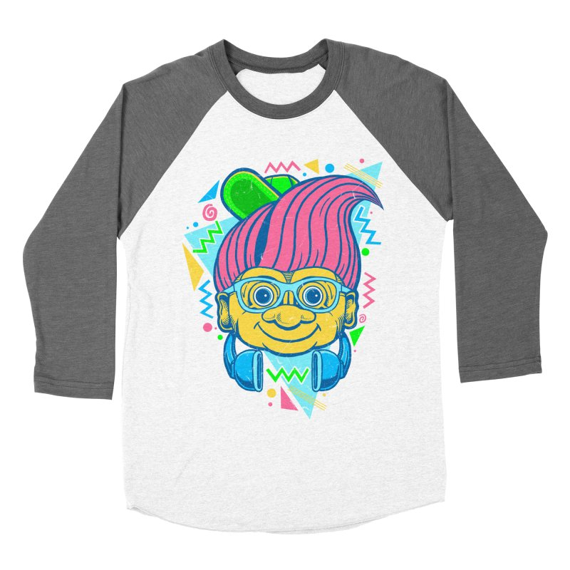 Hip Troll Men's Baseball Triblend T-Shirt by Fathi