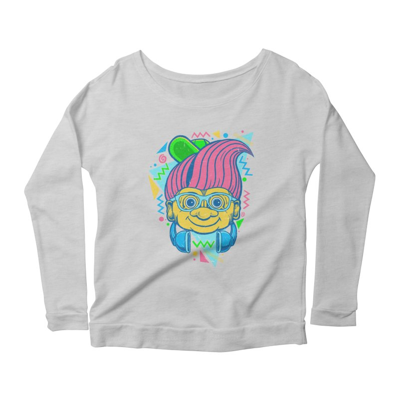 Hip Troll Women's Longsleeve Scoopneck  by Fathi