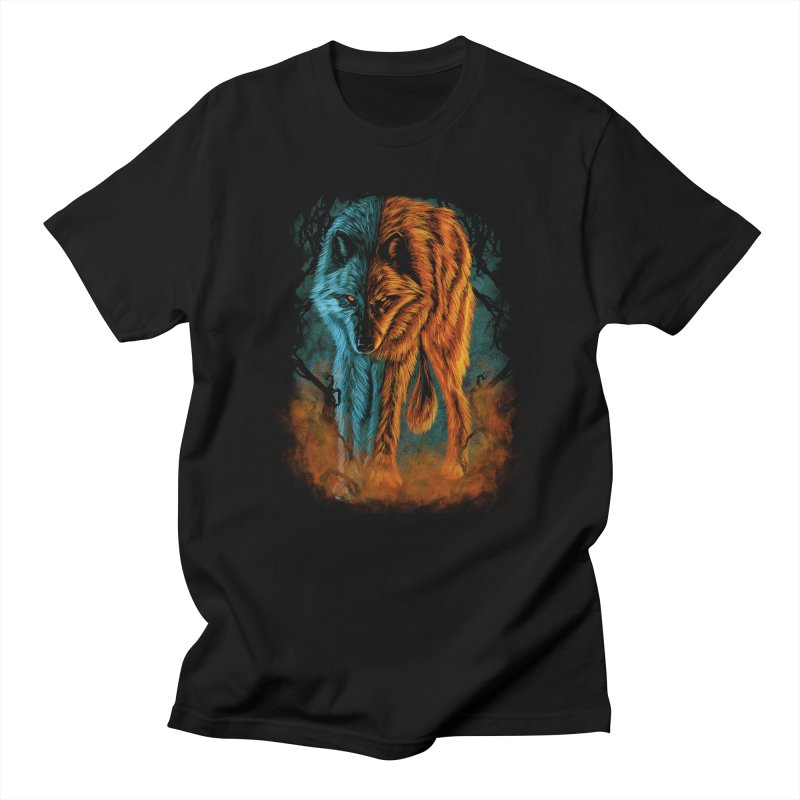 Fire And Ice Men's T-Shirt by Fathi