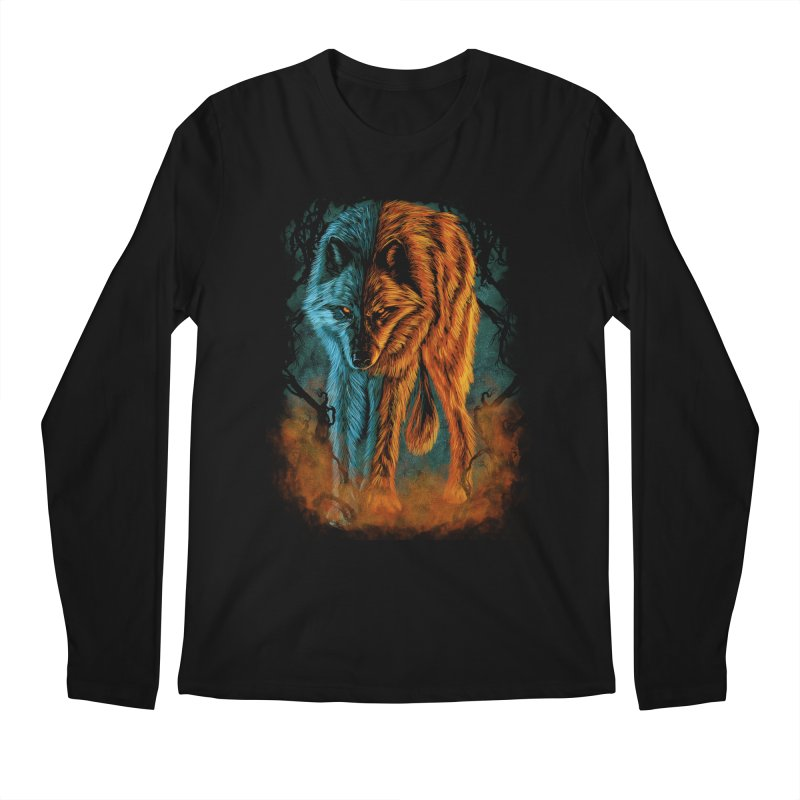 Fire And Ice Men's Longsleeve T-Shirt by Fathi