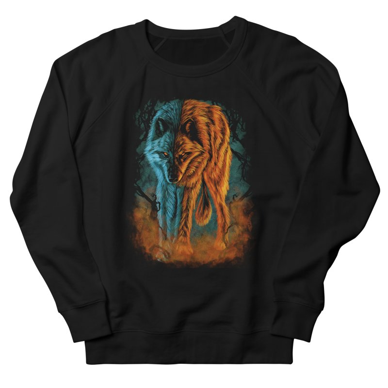 Fire And Ice Men's Sweatshirt by Fathi