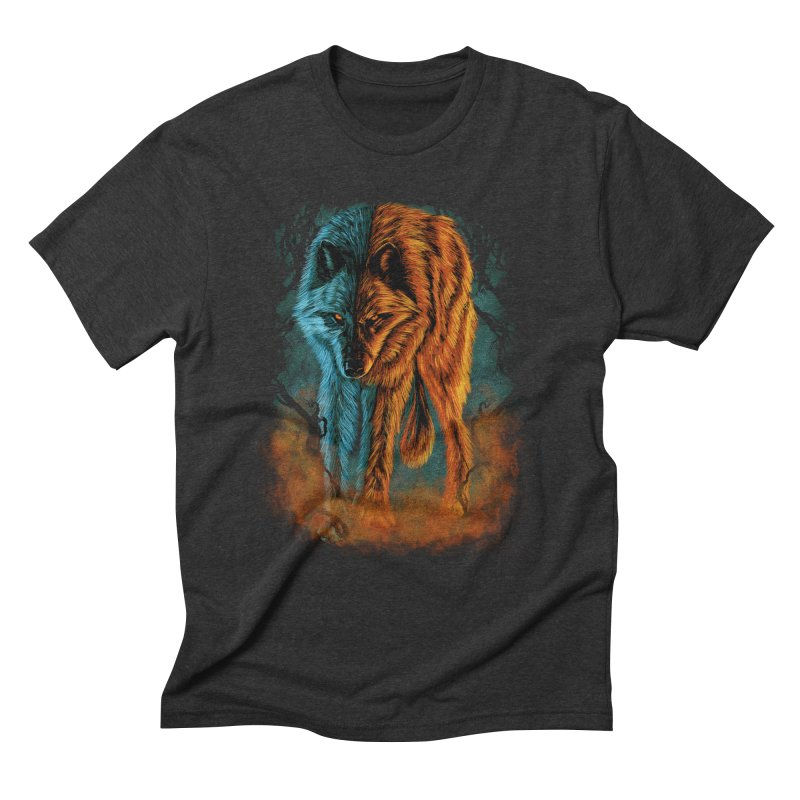 Fire And Ice Men's Triblend T-shirt by Fathi