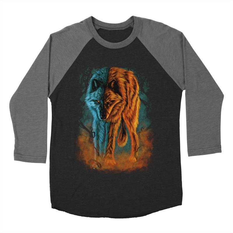 Fire And Ice Women's Baseball Triblend Longsleeve T-Shirt by Fathi
