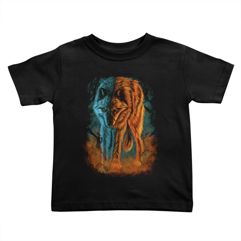 Fire And Ice Kids Toddler T-Shirt by Fathi