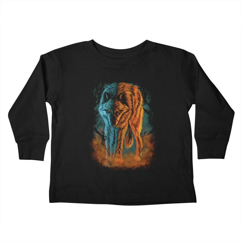 Fire And Ice Kids Toddler Longsleeve T-Shirt by Fathi