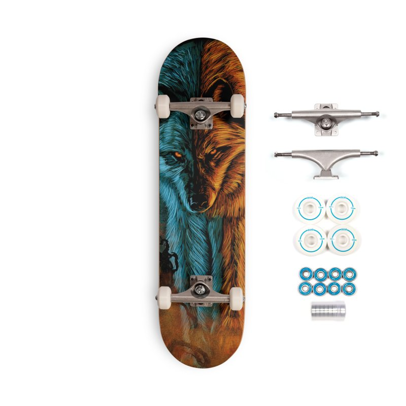 Fire And Ice Accessories Skateboard by Fathi