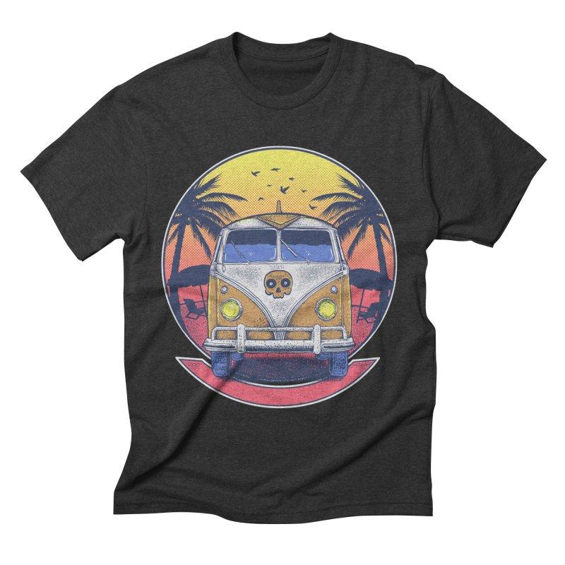 Beach Van Men's Triblend T-shirt by Fathi