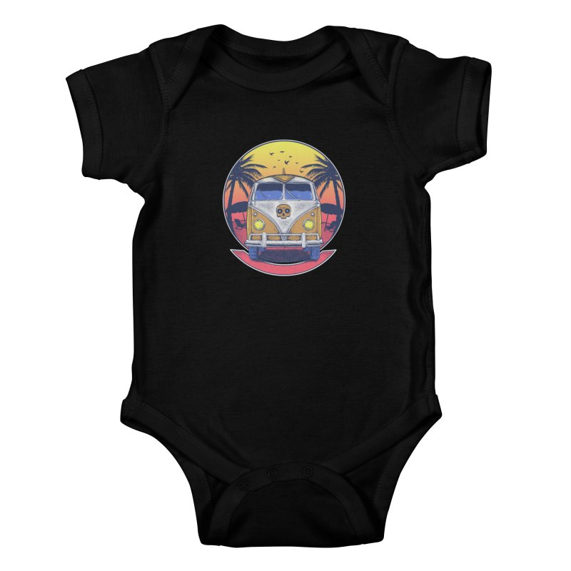 Beach Van Kids Baby Bodysuit by Fathi