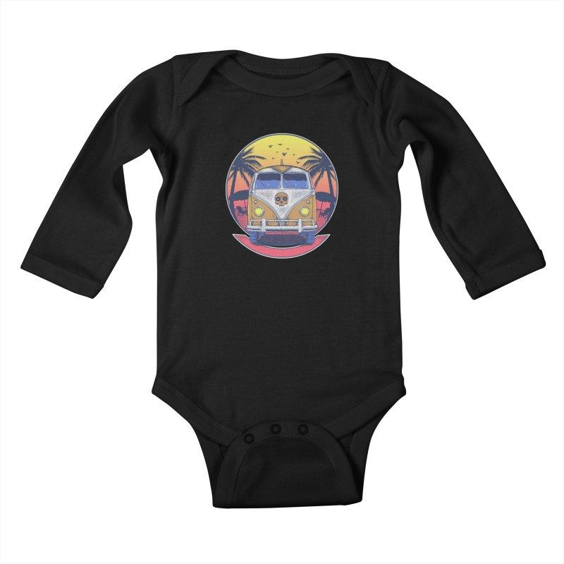 Beach Van Kids Baby Longsleeve Bodysuit by Fathi