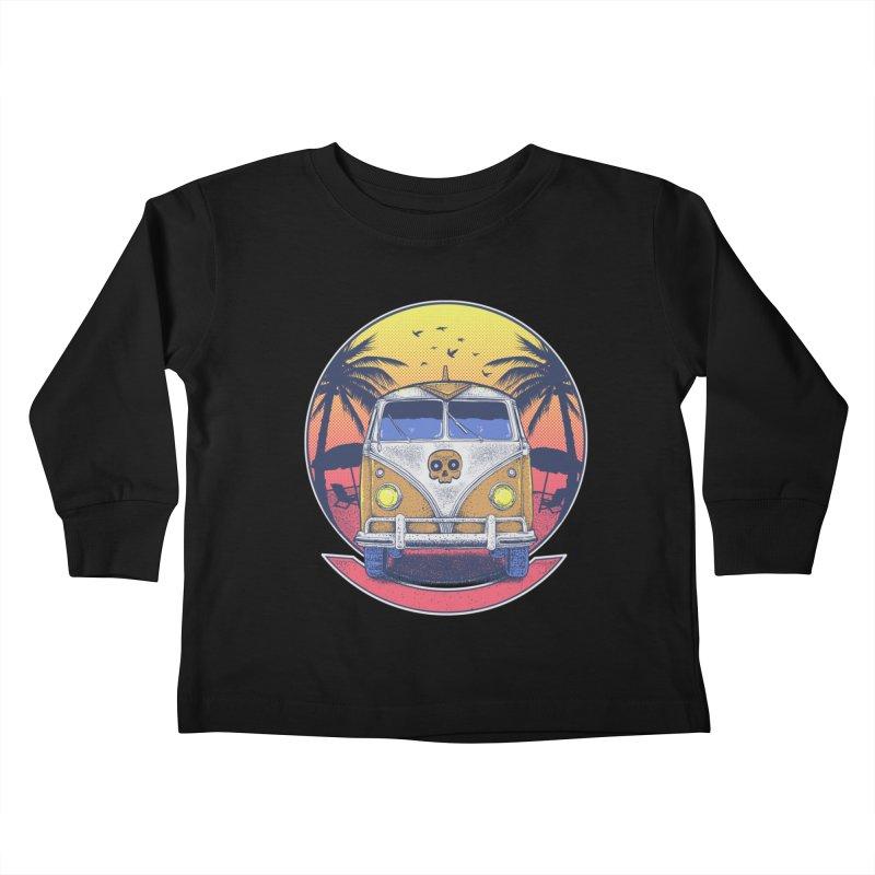 Beach Van Kids Toddler Longsleeve T-Shirt by Fathi