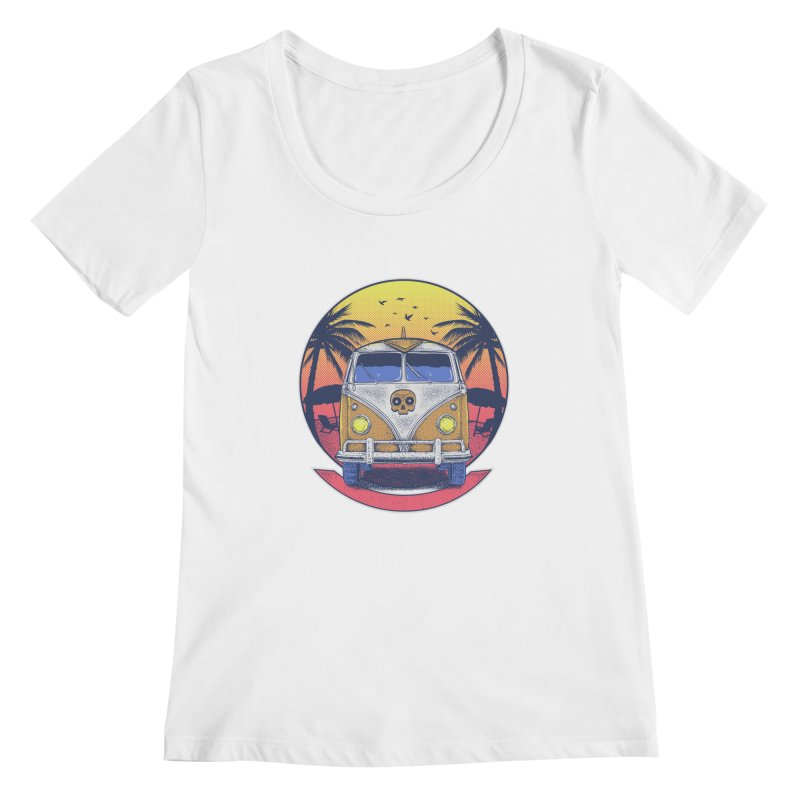 Beach Van Women's Scoopneck by Fathi