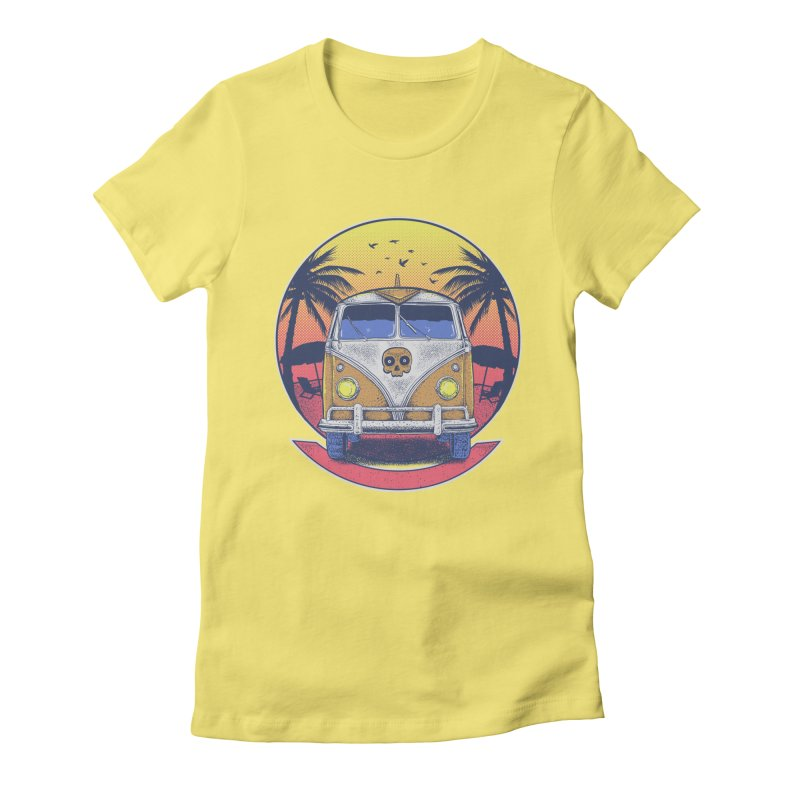 Beach Van Women's Fitted T-Shirt by Fathi