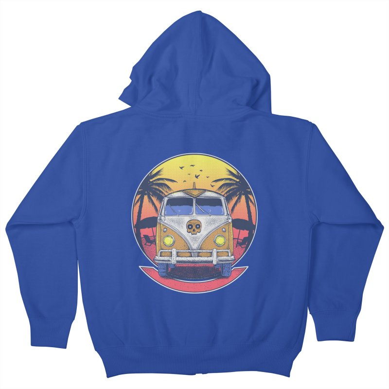 Beach Van Kids Zip-Up Hoody by Fathi