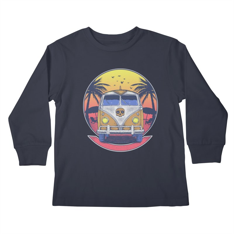 Beach Van Kids Longsleeve T-Shirt by Fathi