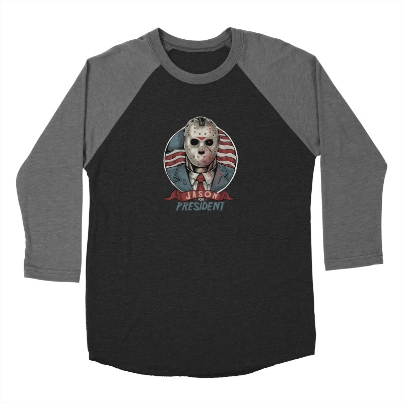 Jason For President Women's Longsleeve T-Shirt by Fathi