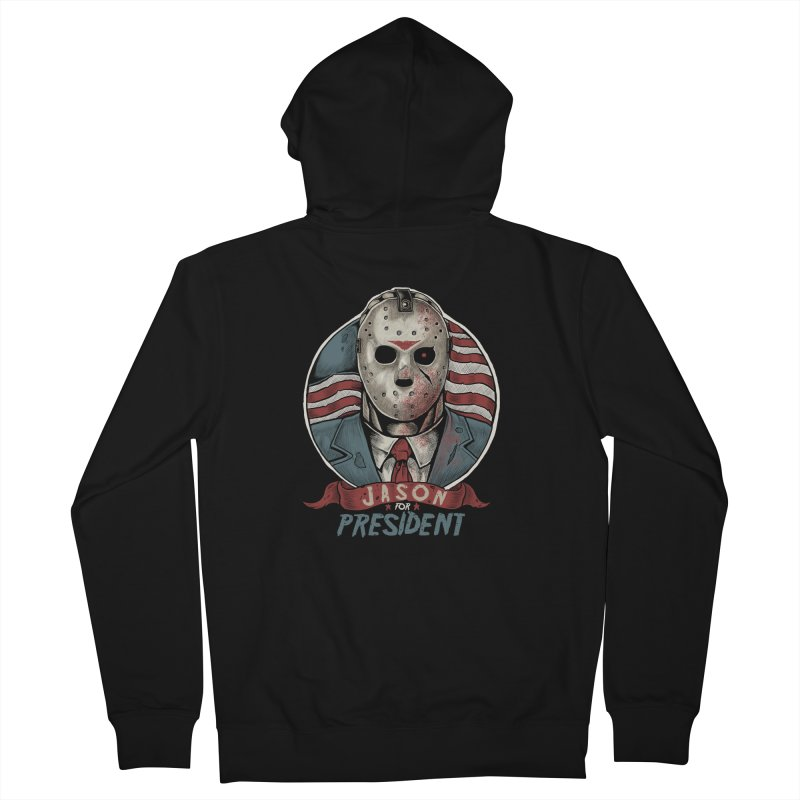 Jason For President Men's Zip-Up Hoody by Fathi
