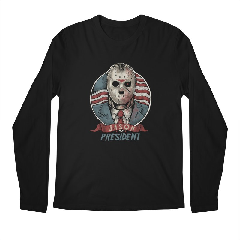 Jason For President Men's Longsleeve T-Shirt by Fathi
