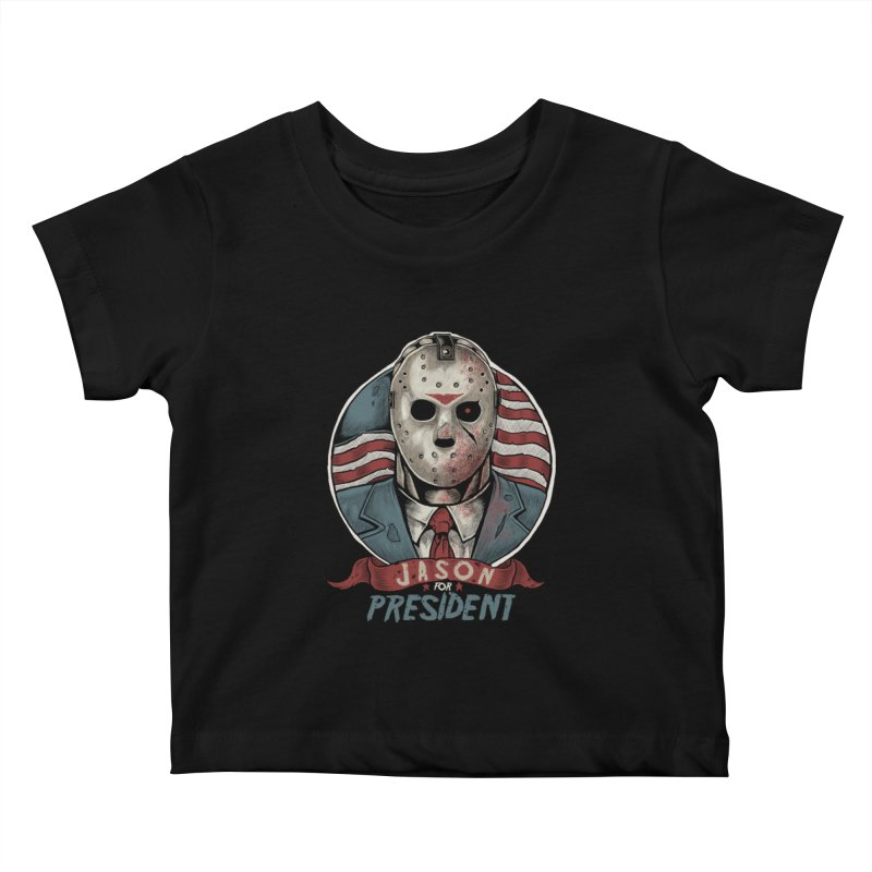 Jason For President Kids Baby T-Shirt by Fathi