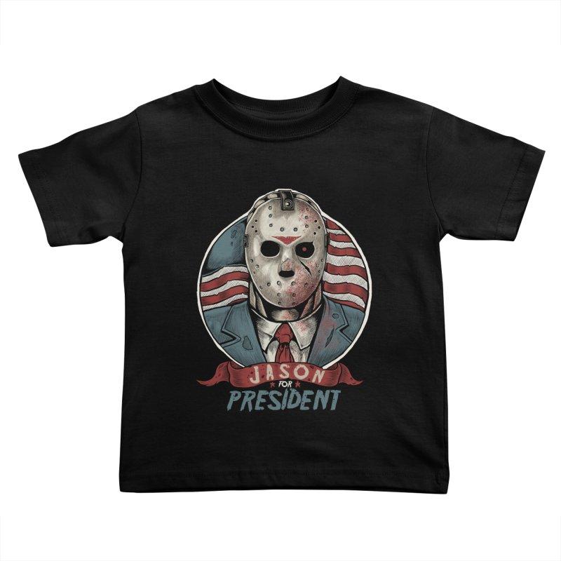 Jason For President Kids Toddler T-Shirt by Fathi