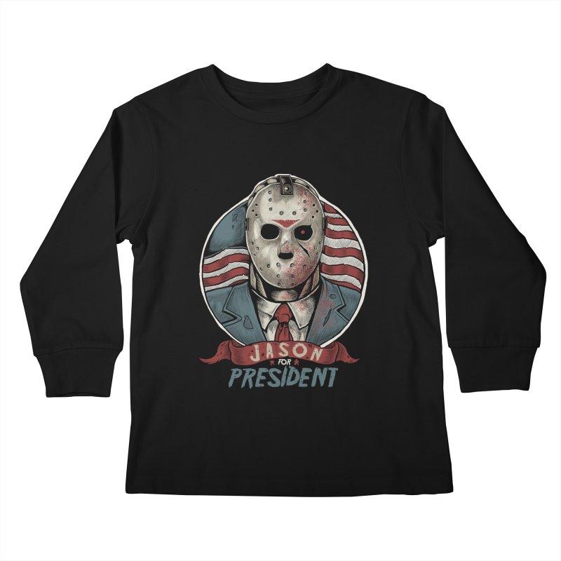 Jason For President Kids Longsleeve T-Shirt by Fathi