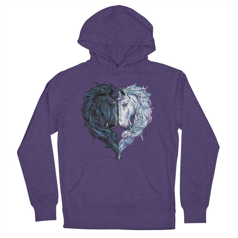 Love Horses Men's Pullover Hoody by Fathi