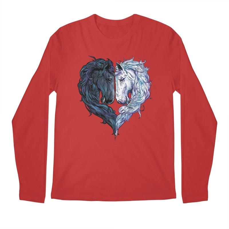 Love Horses Men's Longsleeve T-Shirt by Fathi