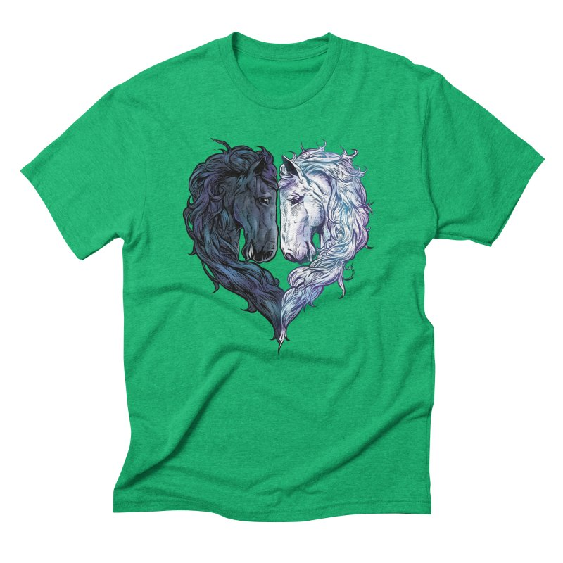 Love Horses Men's Triblend T-Shirt by Fathi