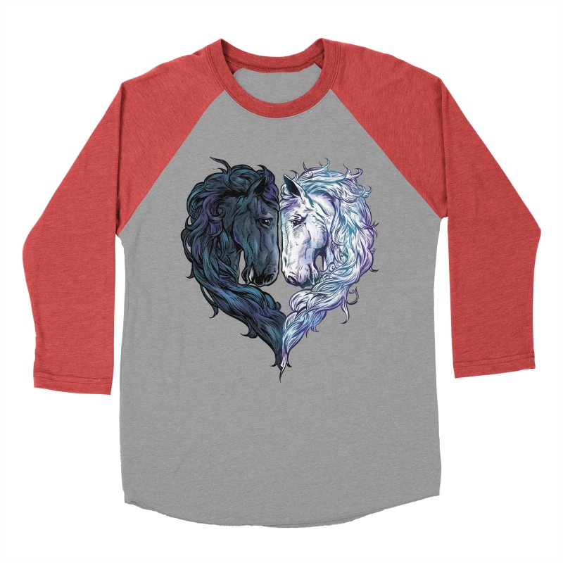Love Horses Women's Baseball Triblend Longsleeve T-Shirt by Fathi