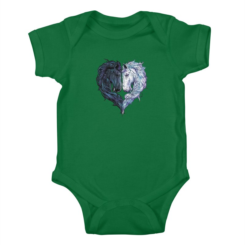 Love Horses Kids Baby Bodysuit by Fathi