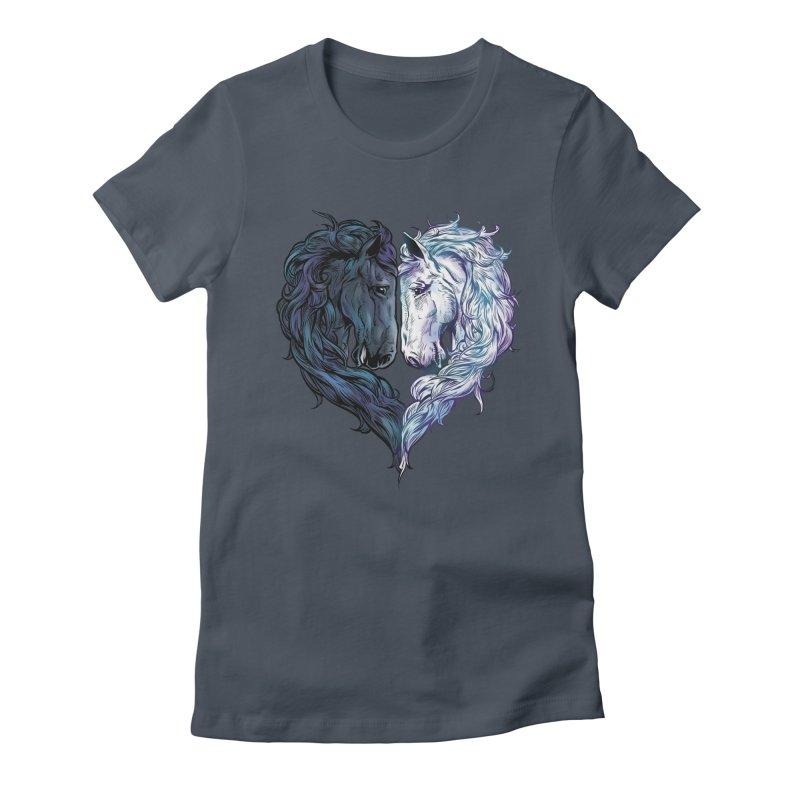 Love Horses Women's T-Shirt by Fathi