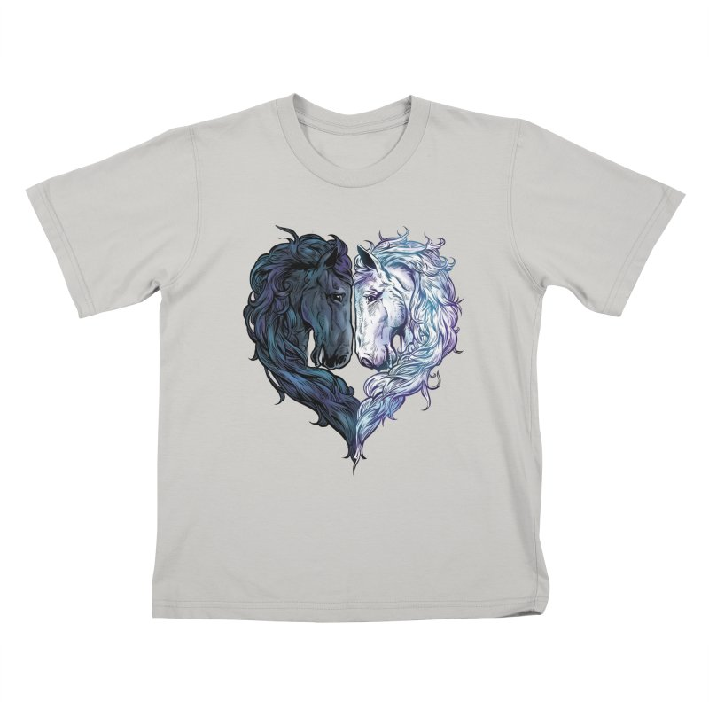Love Horses Kids T-Shirt by Fathi