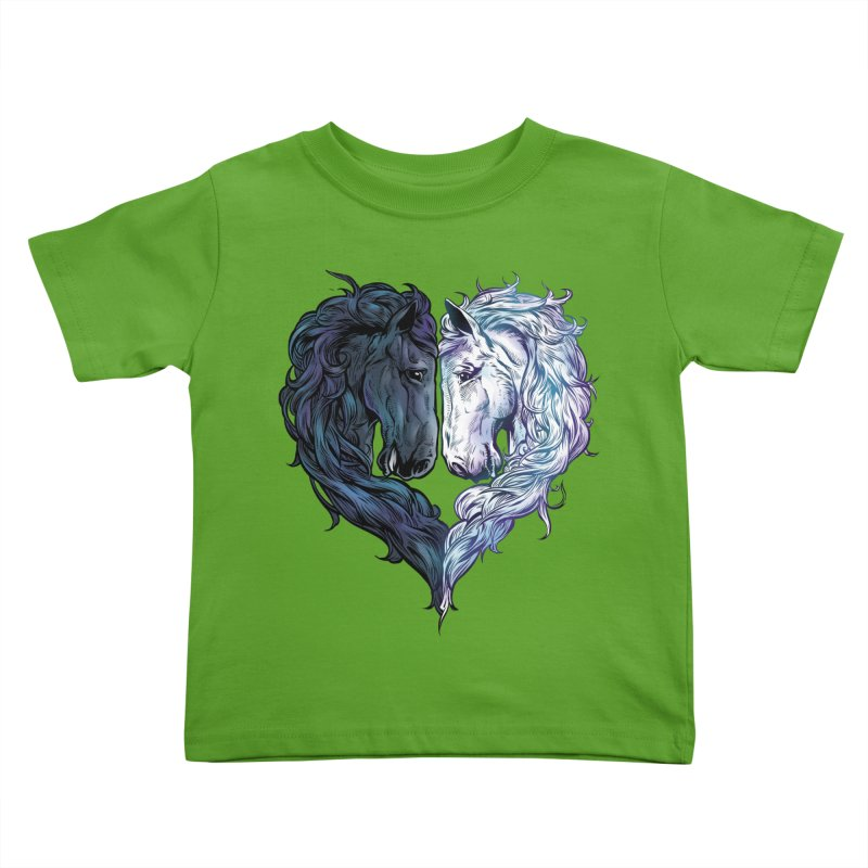 Love Horses Kids Toddler T-Shirt by Fathi