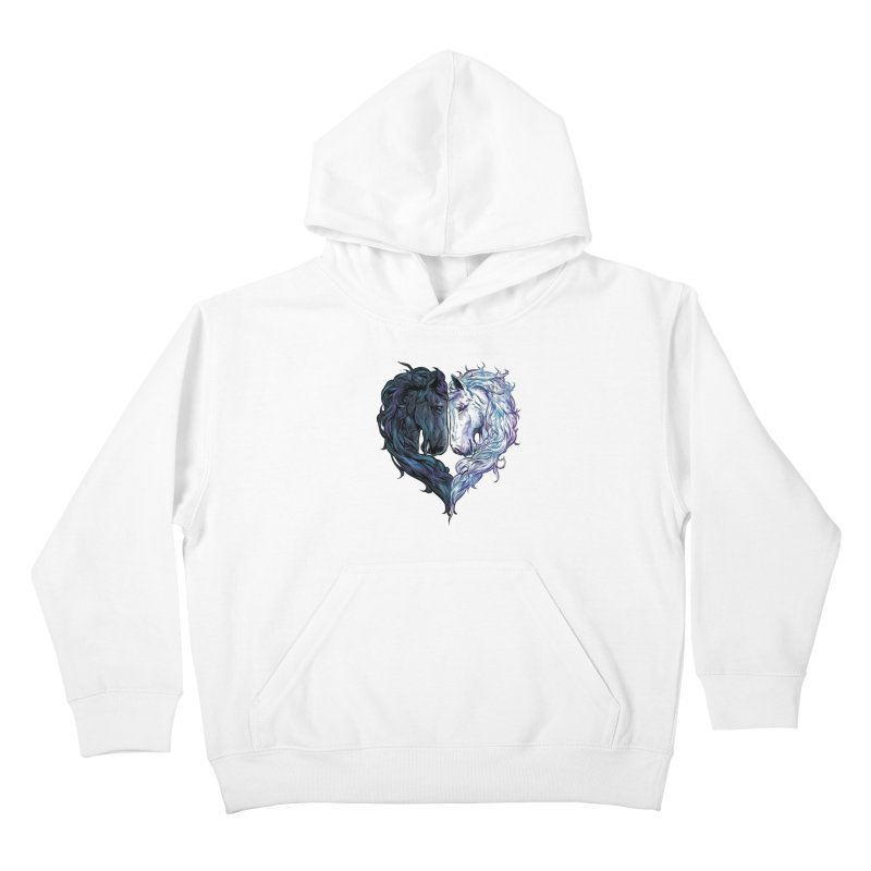 Love Horses Kids Pullover Hoody by Fathi