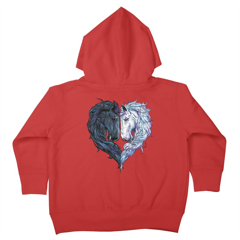 Love Horses Kids Toddler Zip-Up Hoody by Fathi