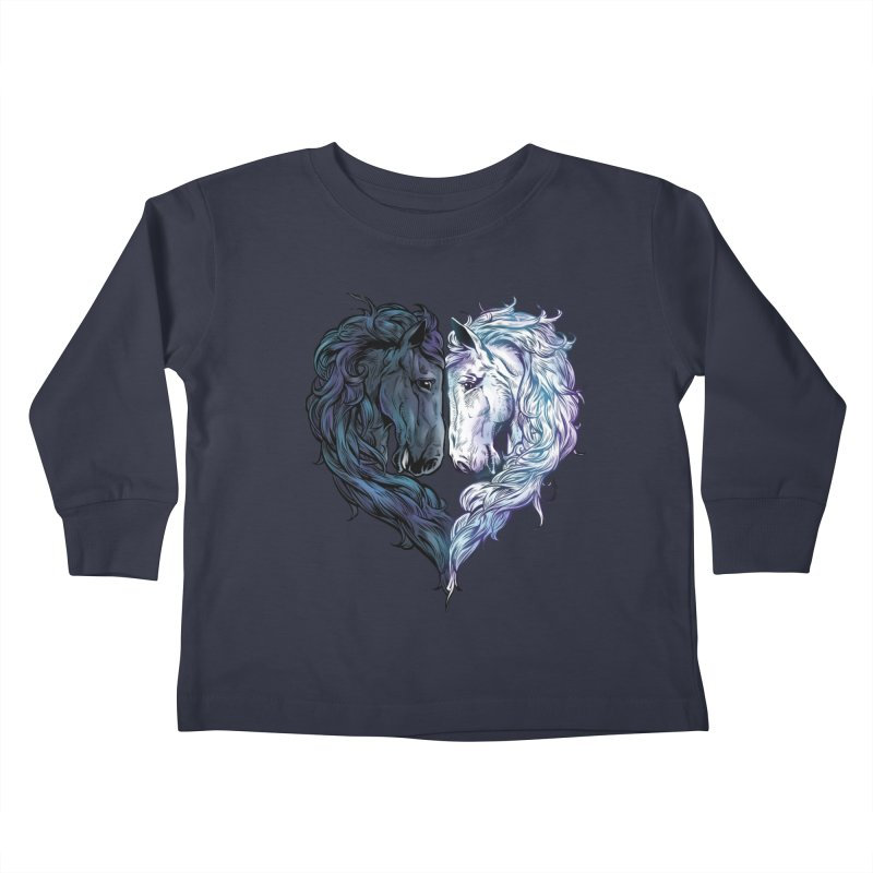 Love Horses Kids Toddler Longsleeve T-Shirt by Fathi