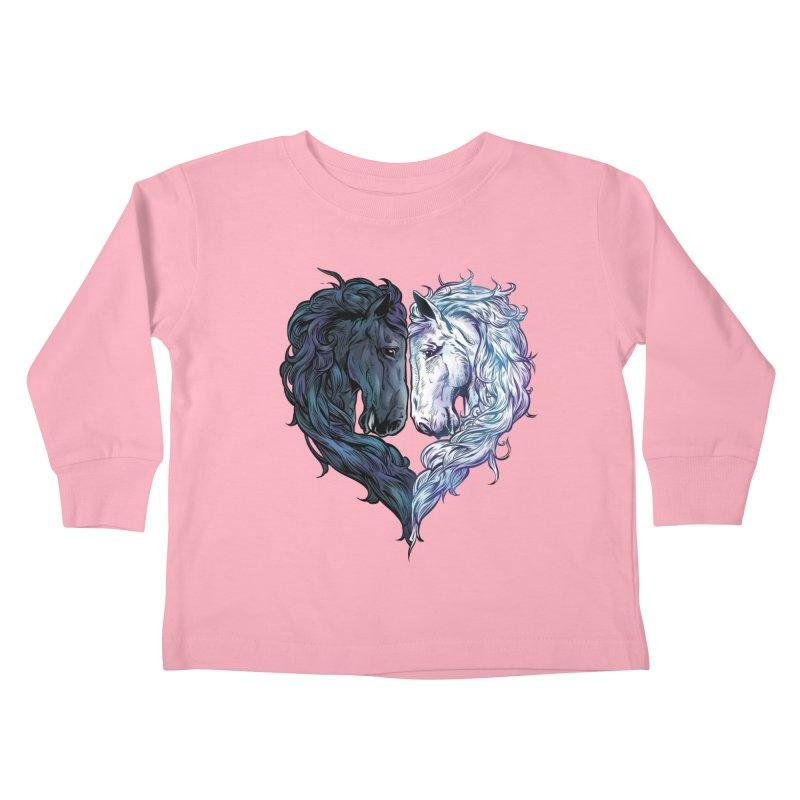 Love Horses Kids Toddler Longsleeve T-Shirt by Fathi