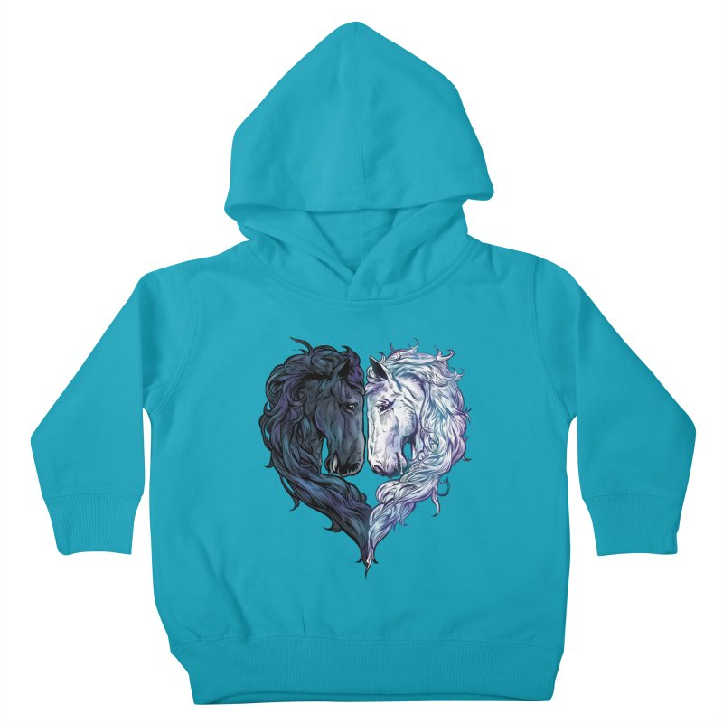 Love Horses Kids Toddler Pullover Hoody by Fathi