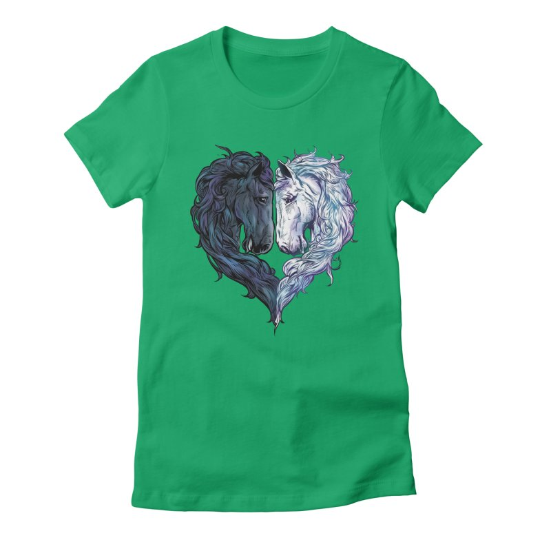 Love Horses Women's Fitted T-Shirt by Fathi
