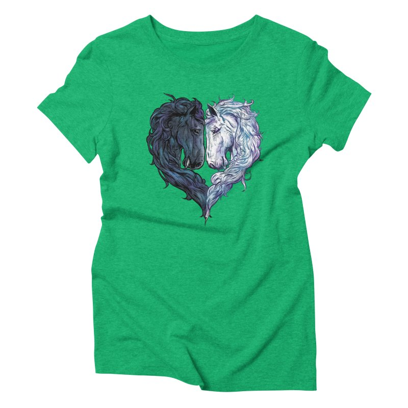 Love Horses Women's Triblend T-Shirt by Fathi