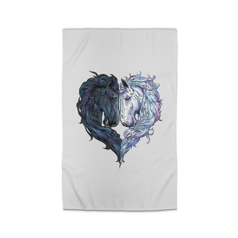 Love Horses Home Rug by Fathi