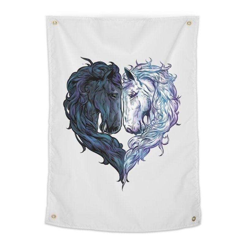 Love Horses Home Tapestry by Fathi