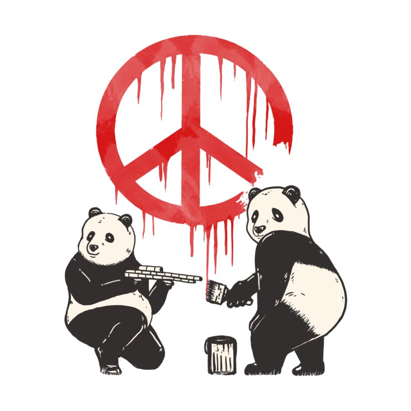 Pandalism Peace Sign Home Mounted Aluminum Print by Fathi