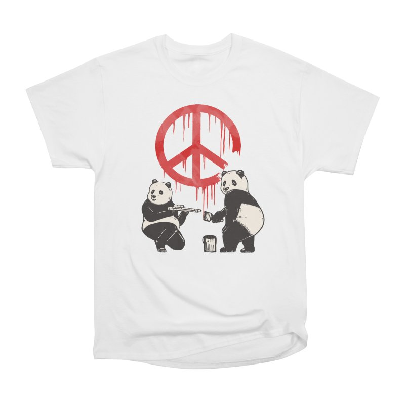 Pandalism Peace Sign Men's T-Shirt by Fathi