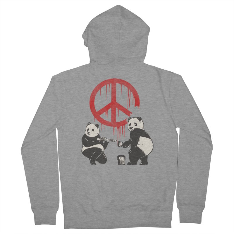 Pandalism Peace Sign Men's Zip-Up Hoody by Fathi