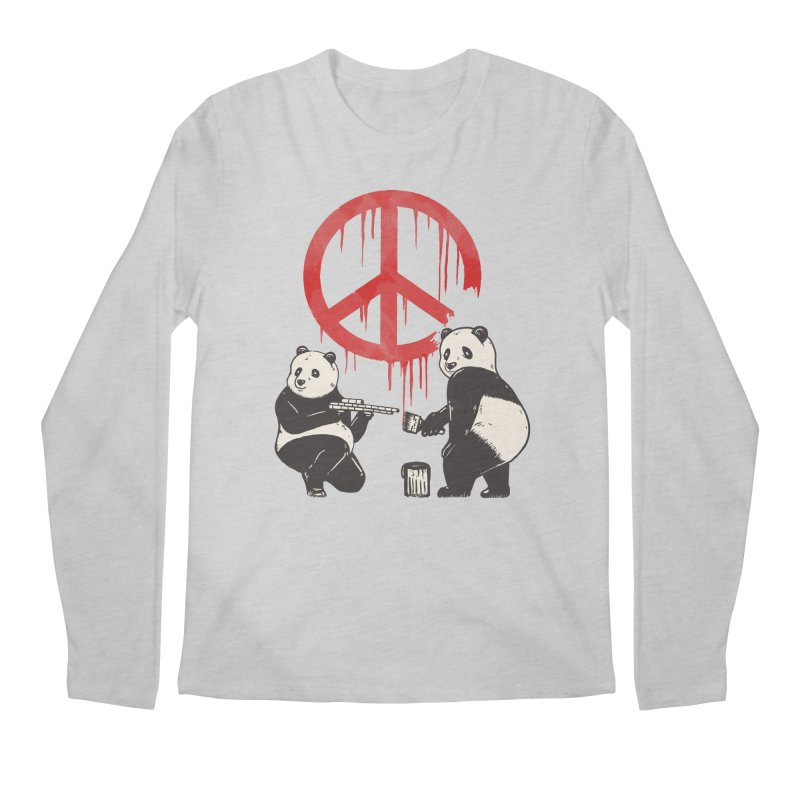 Pandalism Peace Sign Men's Longsleeve T-Shirt by Fathi