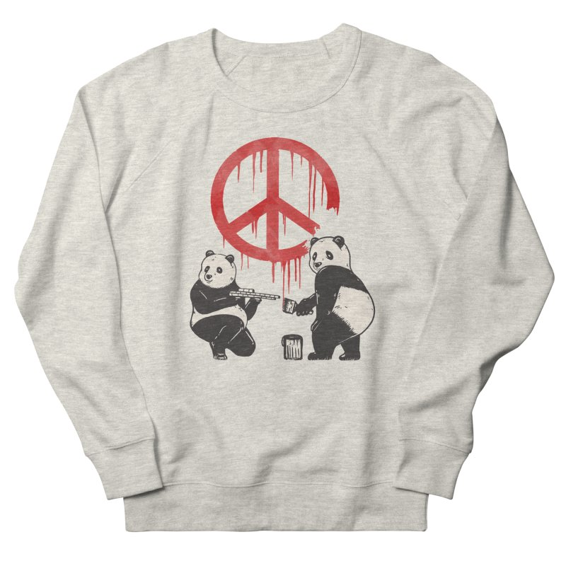 Pandalism Peace Sign Women's Sweatshirt by Fathi