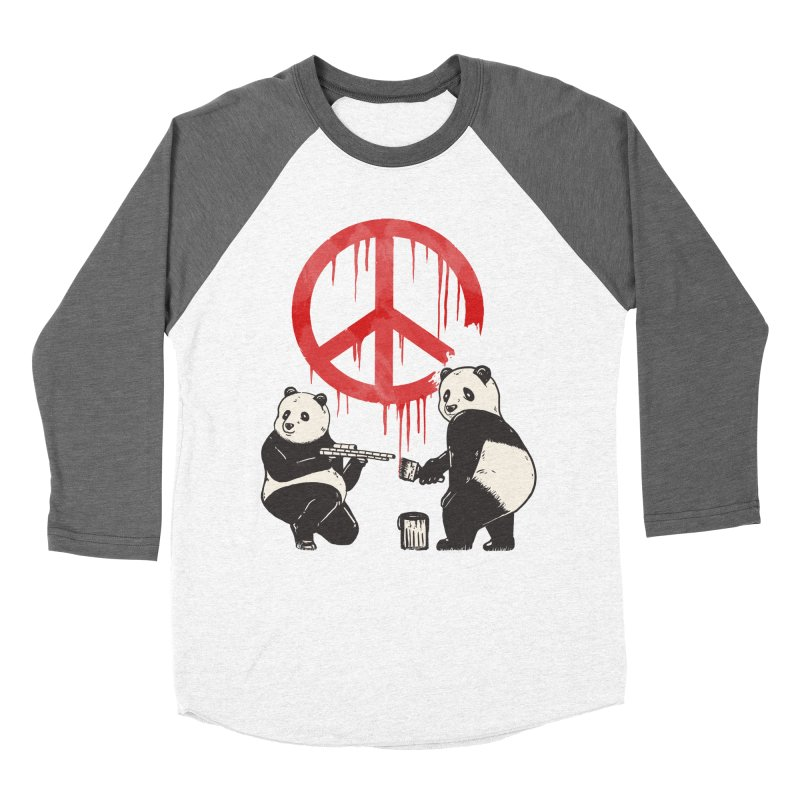 Pandalism Peace Sign Women's Longsleeve T-Shirt by Fathi