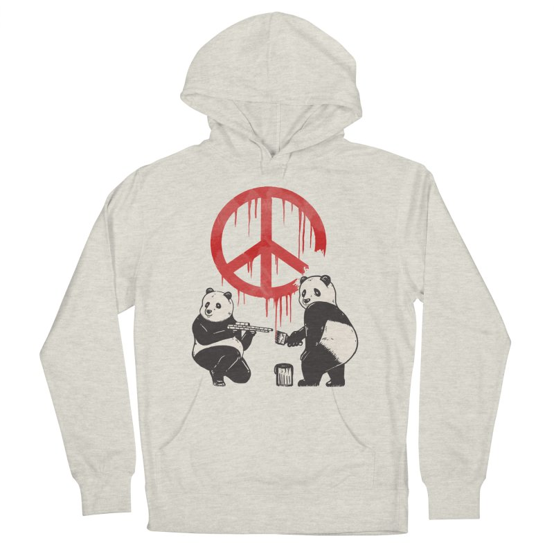 Pandalism Peace Sign Women's French Terry Pullover Hoody by Fathi