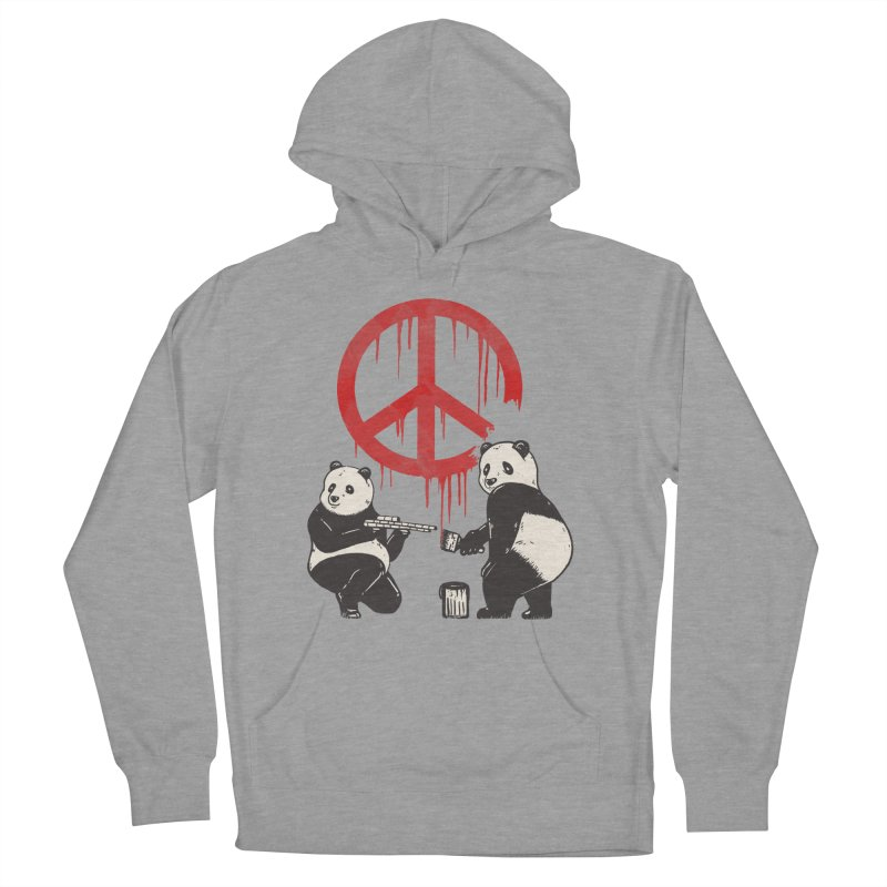 Pandalism Peace Sign Men's French Terry Pullover Hoody by Fathi